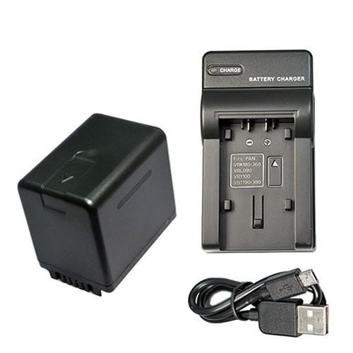 スーパーセール期間限定 交換無料 USB充電器セット パナソニック Panasonic VW-VBT380-K 充電器 互換バッテリー USBタイプ +