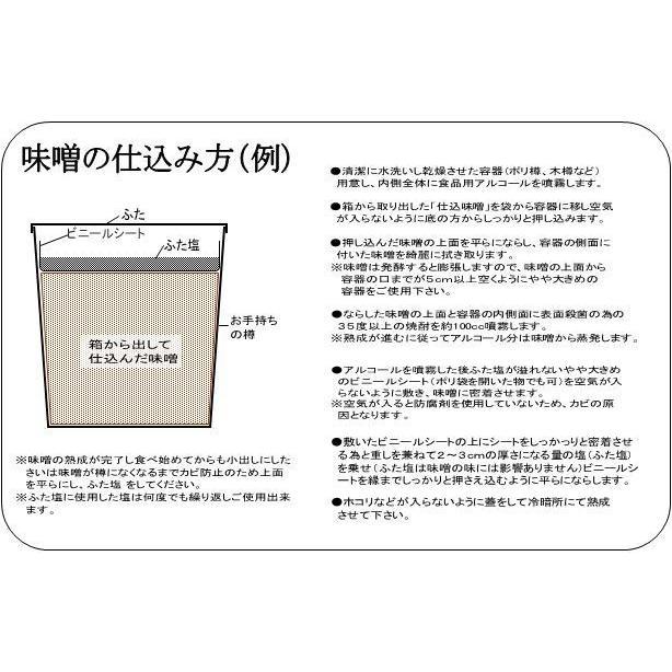仕込み味噌 十六割糀 15kg 箱入り 無添加 新潟産米・大豆100%|ikarashikoujiya|04