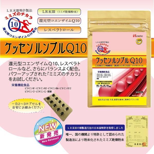 ミミズのチカラ ケッセンルンブル Q10 (60粒入) ikcreation