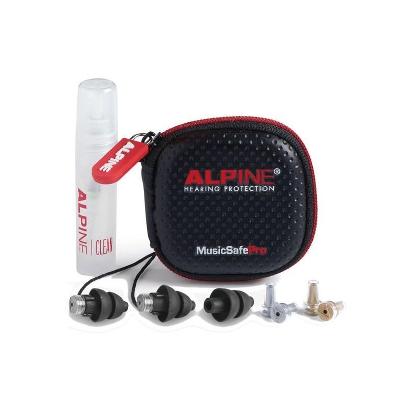 ALPINE 安売り HEARING 信憑 PROTECTION Earplugs NEW MusicSafe 耳栓 Black Pro あすつく対応