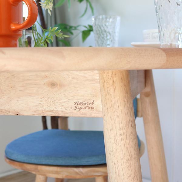 ダイニングテーブルセット 北欧風 円形 4人掛け 5点 天然木 無垢 丸テーブル おしゃれ 幅100cm ナチュラル 回転椅子 カバーリング gkw|ikikagu|05