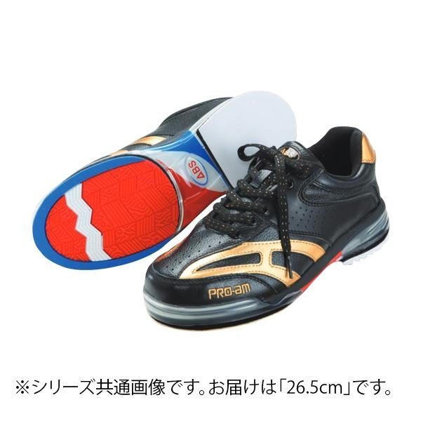 宅配 送料無料 ABS ボウリングシューズ ABS CLASSIC 左右兼用 ブラック・ゴールド 26.5cm, さくらソレイユ 411012b1