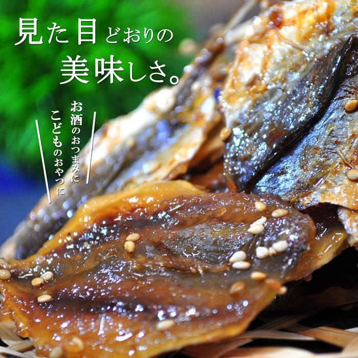 アジの浜焼き 100g 天然 小アジ おつまみ おやつ 魚 甘辛 酒の肴 ikkadanran 02