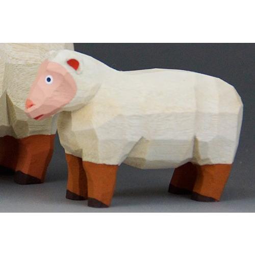 干支置物「羊」(ひつじ)ミニ(大)/奈良一刀彫/楠/人形/ヒツジ/ひつじ/羊|ikkisya