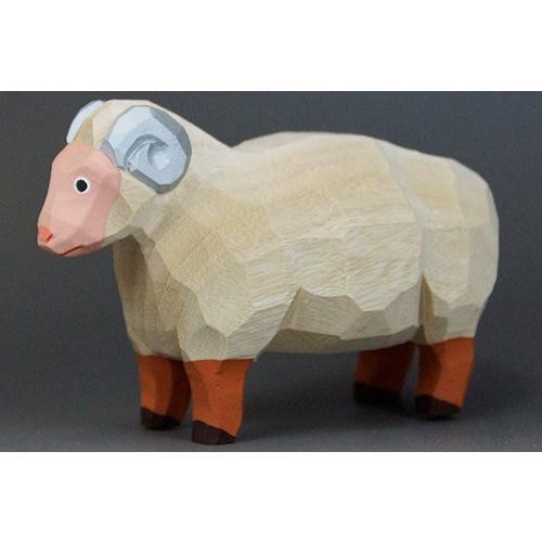 干支置物「羊」(ひつじ)小サイズ/奈良一刀彫/楠/人形/ヒツジ/ひつじ/羊 ikkisya 02