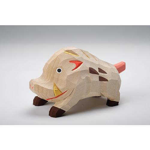 干支置物「亥」(いのしし)特大サイズ/奈良一刀彫/楠/人形/猪/イノシシ/いのしし/亥|ikkisya
