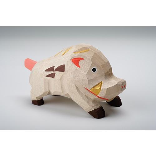 干支置物「亥」(いのしし)特大サイズ/奈良一刀彫/楠/人形/猪/イノシシ/いのしし/亥|ikkisya|03