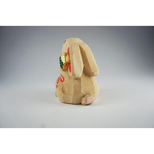 干支置物「卯」(うさぎ)大サイズ/奈良一刀彫/楠/人形/ウサギ/うさぎ/卯|ikkisya|05