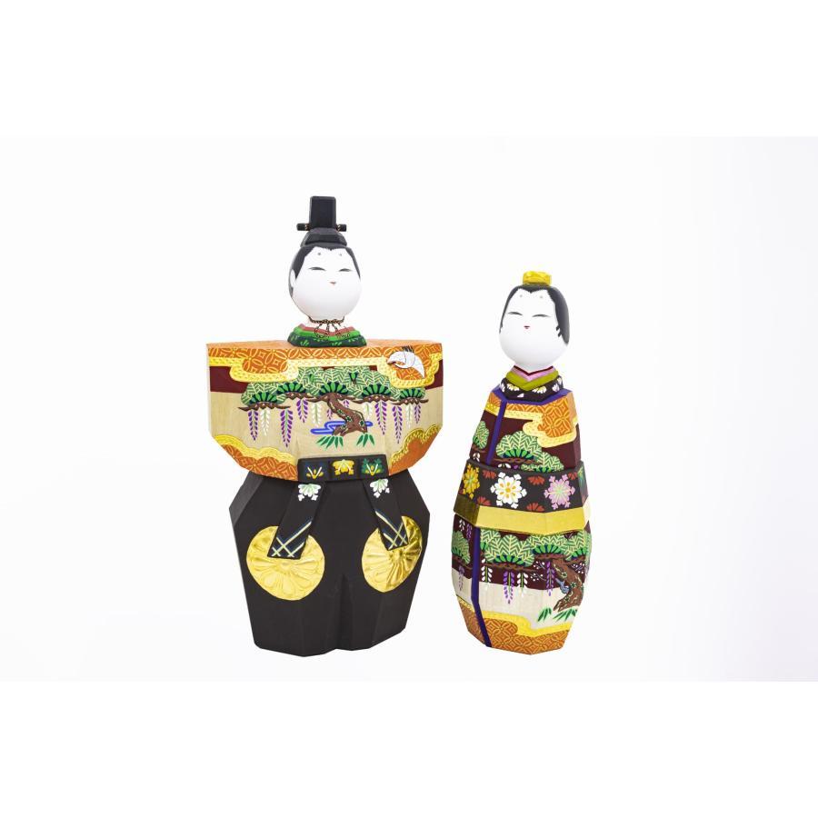 雛人形 「あきしの」7号サイズ 立雛 | 一刀彫り お雛様 手作り おしゃれ ひな人形 一刀彫 奈良|ikkisya