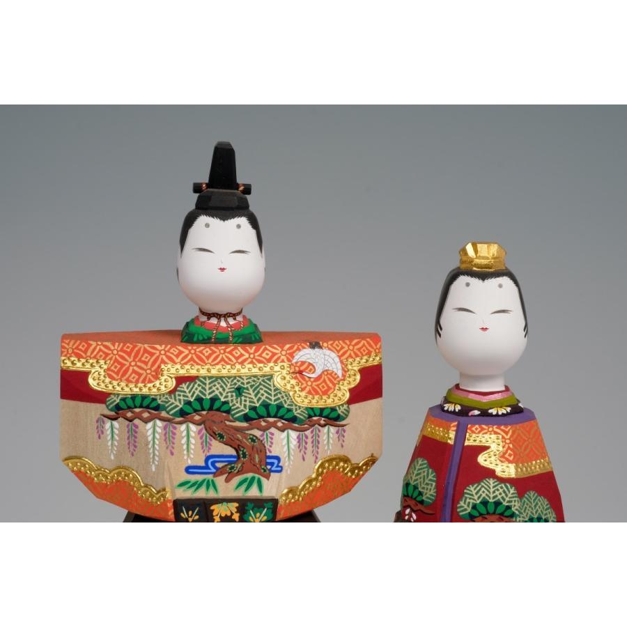 雛人形 「あきしの」7号サイズ 立雛 | 一刀彫り お雛様 手作り おしゃれ ひな人形 一刀彫 奈良|ikkisya|02