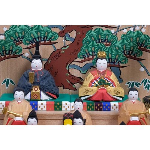 雛人形 「五段飾雛」小サイズ 十五人飾り | 一刀彫り お雛様 手作り おしゃれ ひな人形 一刀彫 奈良|ikkisya|02