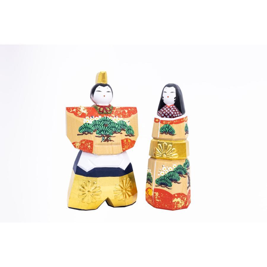 雛人形 「かぎろい」4号サイズ 立雛 | 一刀彫り お雛様 手作り おしゃれ ひな人形 一刀彫 奈良|ikkisya