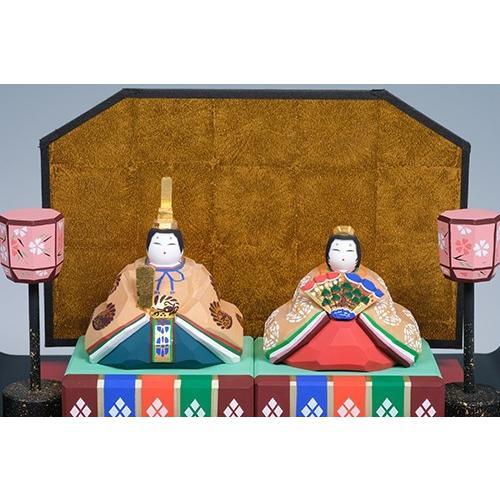 雛人形/親王雛 「かぐや」   一刀彫り お雛様 手作り おしゃれ ひな人形 一刀彫 奈良 ikkisya 02
