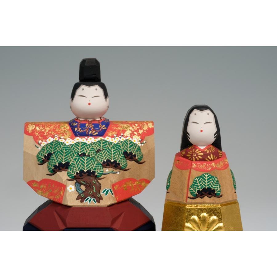 雛人形 「まほろば」6号サイズ 立雛 | 一刀彫り お雛様 手作り おしゃれ ひな人形 一刀彫 奈良|ikkisya|02