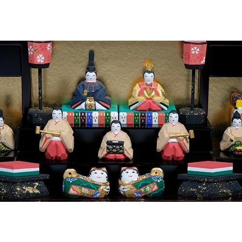 雛人形 「段飾雛 うるわし」 大サイズ 十五人飾り | 一刀彫り お雛様 手作り おしゃれ ひな人形 一刀彫 奈良|ikkisya|02
