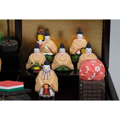 雛人形 「段飾雛 うるわし」 大サイズ 十五人飾り | 一刀彫り お雛様 手作り おしゃれ ひな人形 一刀彫 奈良|ikkisya|05
