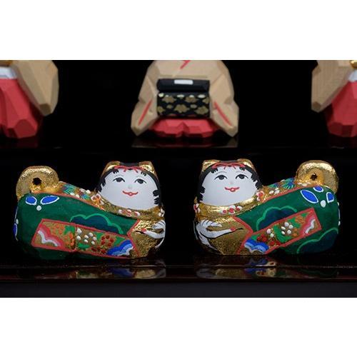 雛人形 「段飾雛 うるわし」 大サイズ 十五人飾り | 一刀彫り お雛様 手作り おしゃれ ひな人形 一刀彫 奈良|ikkisya|07