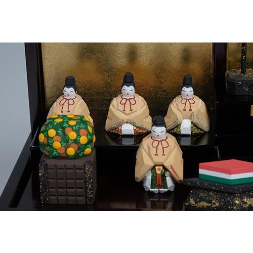雛人形 「段飾雛 うるわし」 小サイズ 十五人飾り   一刀彫り お雛様 手作り おしゃれ ひな人形 一刀彫 奈良 ikkisya 06