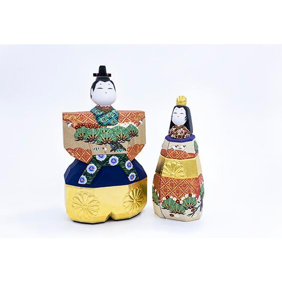 雛人形 「山の辺」5号サイズ 立雛 | 一刀彫り お雛様 手作り おしゃれ ひな人形 一刀彫 奈良|ikkisya