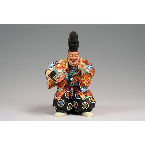 福の神(狂言) 中サイズ/奈良一刀彫/楠/木彫人形|ikkisya