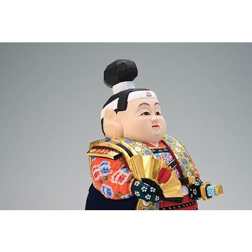 五月人形 「桃太郎」 小サイズ 桧   兜 端午の節句 飾り 兜飾り 一刀彫り おしゃれ 一刀彫 奈良 ikkisya 02
