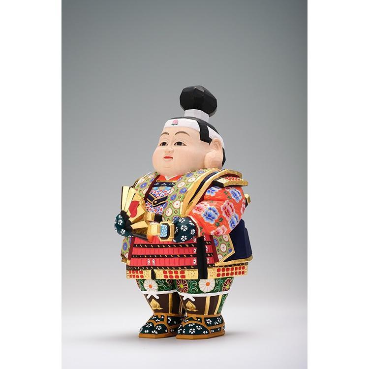 五月人形 「桃太郎」 小サイズ 桧   兜 端午の節句 飾り 兜飾り 一刀彫り おしゃれ 一刀彫 奈良 ikkisya 03