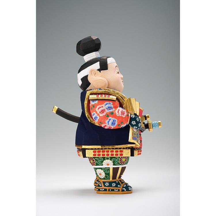 五月人形 「桃太郎」 小サイズ 桧   兜 端午の節句 飾り 兜飾り 一刀彫り おしゃれ 一刀彫 奈良 ikkisya 05