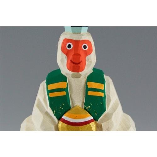 干支置物「申」(さる) 小サイズ/奈良一刀彫/楠/人形/サル/さる/猿 ikkisya 02