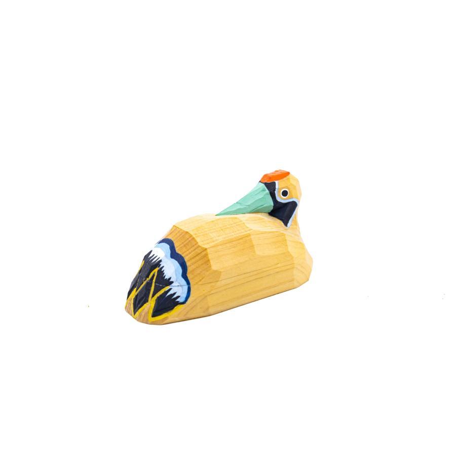 置き物「鶴(木地)」/一刀彫/奈良/置き物/つる/ツル/木地/鶴(木地)|ikkisya