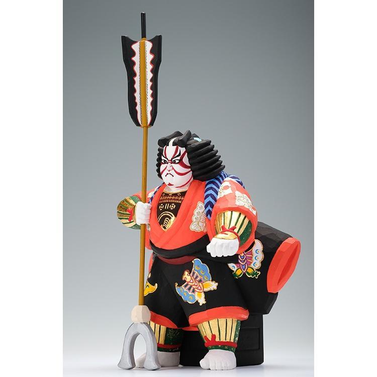 矢の根(歌舞伎)/奈良一刀彫/木彫人形/かぶき/やのね|ikkisya|03
