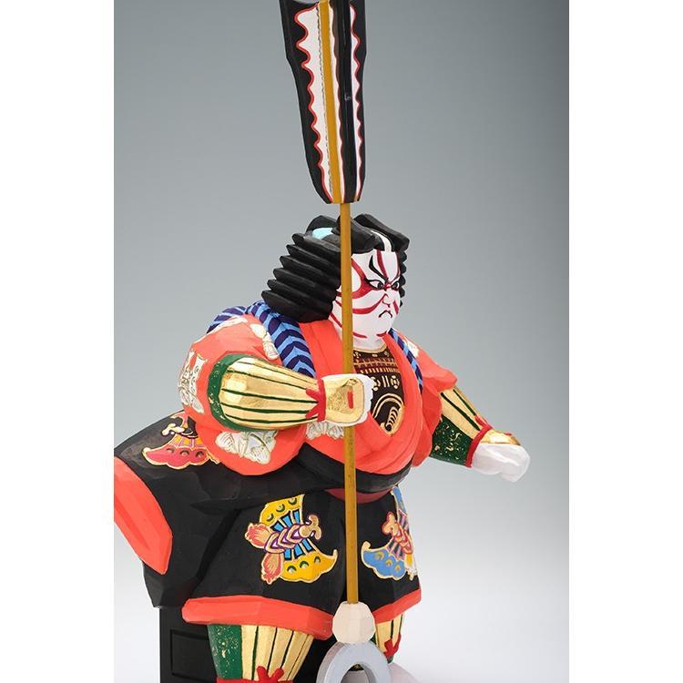 矢の根(歌舞伎)/奈良一刀彫/木彫人形/かぶき/やのね|ikkisya|07