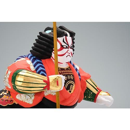 矢の根(歌舞伎)/奈良一刀彫/木彫人形/かぶき/やのね|ikkisya|08