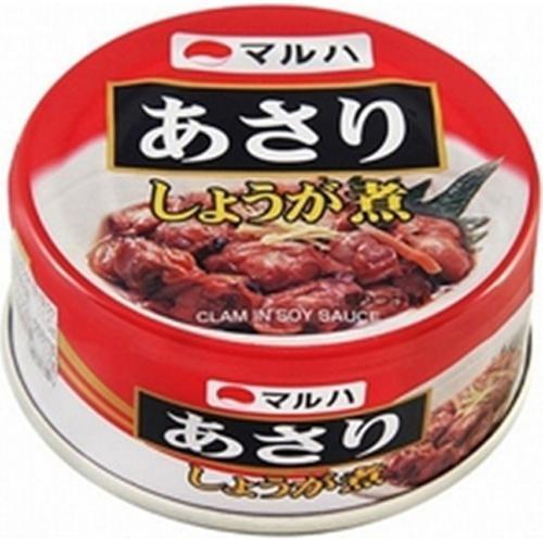 マルハ あさりしょうが煮 EO缶 90g×12入|ikkomon-marche