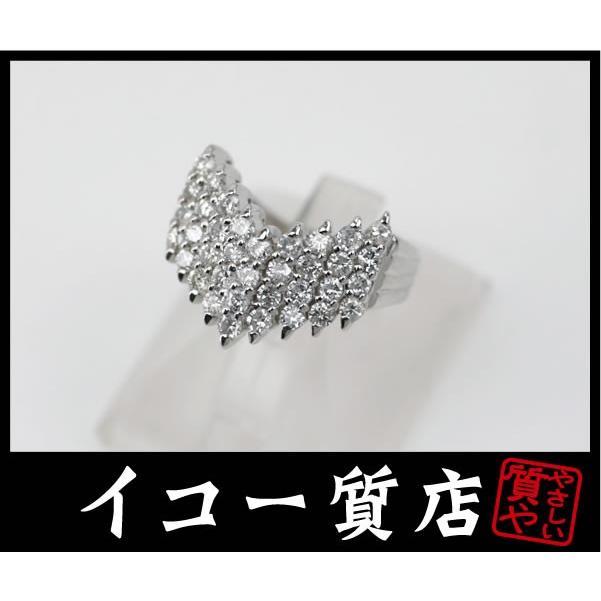 人気沸騰ブラドン Pt900 ダイヤモンド1.06ct V字デザイン ファッションリング 11号 【】, 今庄町 3ea2368a