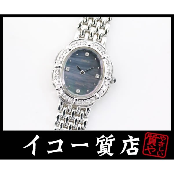 最先端 セイコー エクセリーヌ 5A50-5190 ダイヤベゼル×4Pダイヤ ブラックシェル レディース 希少モデル 極美品, ZECOO COLOR 48345305