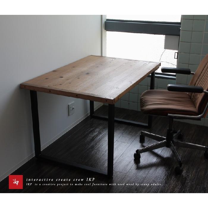 古材ダイニングテーブル120無料設置配送 ikpイカピー