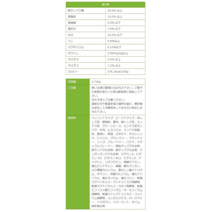 ペットカインド Pet Kind グレインフリー トライプドライGL グリーンベニソントライプ 2.72kg イリオスマイル ポイント消化 送料無料|iliosmile|02