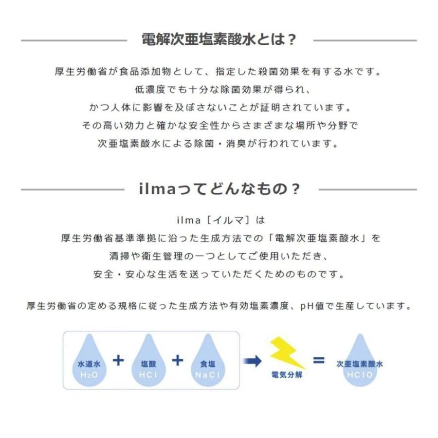 電解次亜塩素酸水 ilma[イルマ] 噴霧器 + 詰め替え用 10L スターターキット|ilmastore|04