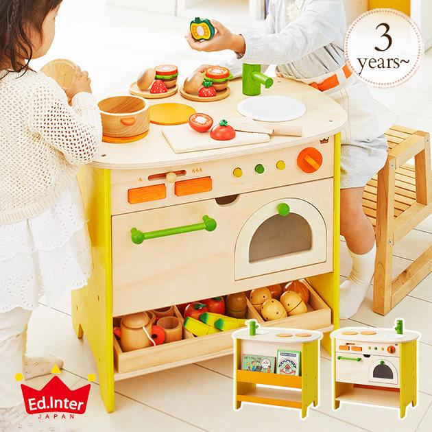 おもちゃ キッチン 木のおもちゃ ままごと 木製 エド・インター 森のアイランドキッチン 808733