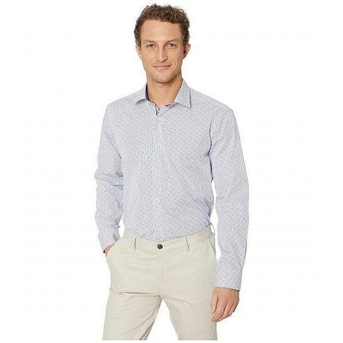 登場! Bugatchi ブガッティ メンズ 男性用 Long ファッション Blue ボタンシャツ Long Sleeve Shaped 男性用 Fit Button-Up Shirt - Classic Blue, 漆器かりん本舗:0a2d89f8 --- chizeng.com