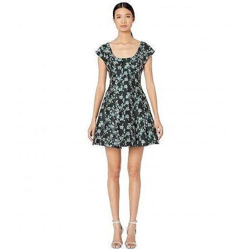 ZAC Zac Posen ザック レディース 女性用 ファッション ドレス Charleston Dress - 黒/Pool 青