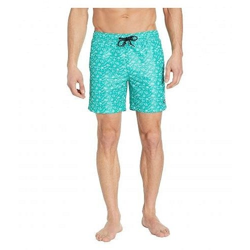 Perry Ellis ペリーエリス メンズ 男性用 スポーツ・アウトドア用品 水着 Printed Swim Shorts - Dynasty 緑 1