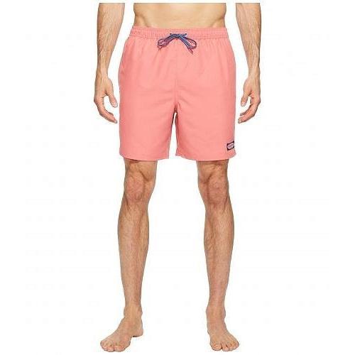 Vineyard Vines ヴィニヤードヴァインズ メンズ 男性用 スポーツ・アウトドア用品 水着 Solid Bungalow Shorts - Lobster Reef