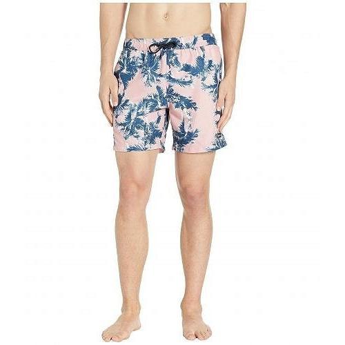 Perry Ellis ペリーエリス メンズ 男性用 スポーツ・アウトドア用品 水着 Printed Swim Shorts - Powder ピンク 1