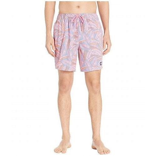 Vineyard Vines ヴィニヤードヴァインズ メンズ 男性用 スポーツ・アウトドア用品 水着 Island Palms Chappy Swim Trunks - Washed Neon ピンク