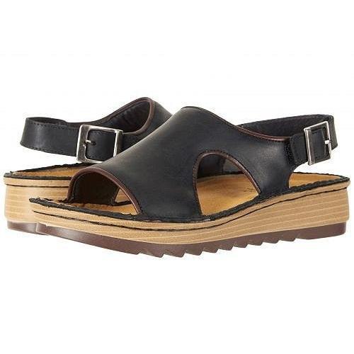 高級素材使用ブランド Naot ナオト レディース 女性用 シューズ 靴 サンダル Ficus - Oily Coal Nubuck/Toffee Brown Leather, 名張市 60189b05
