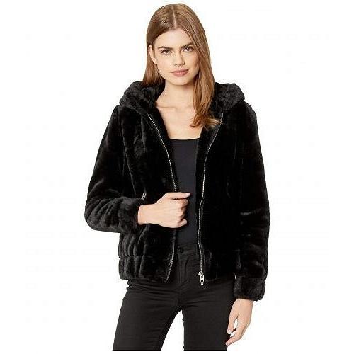 国内初の直営店 Blank NYC ブランクエヌワイシー レディース 女性用 ファッション アウター ジャケット コート Faux Fur Hooded Jacket in Uptown Girl - Black, ジンセキコウゲンチョウ 10518343