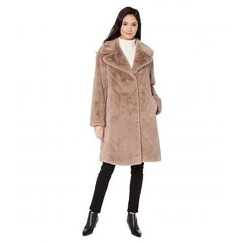 【メーカー再生品】 Avec Les Filles レディース 女性用 ファッション アウター ジャケット コート Faux Fur Knee-Length Coat - Beige, ARKnets f63428c5
