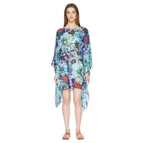 Mary Katrantzou レディース 女性用 スポーツ・アウトドア用品 水着 カバーアップ Beach Poncho Printed Georgette Cover-Up - Turquoise
