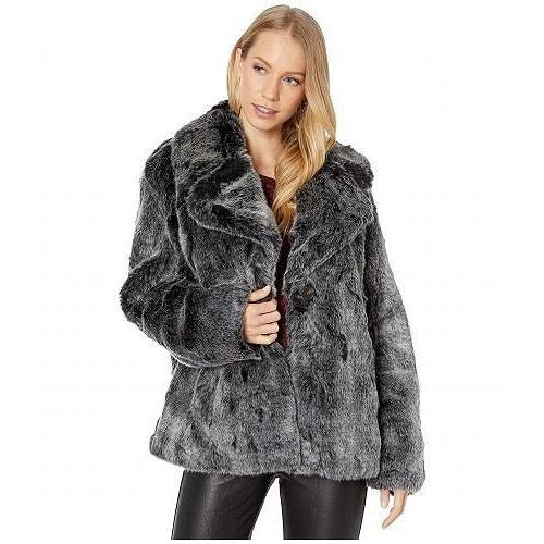 【送料無料/即納】  Avec Les Filles レディース 女性用 ファッション アウター ジャケット コート Cropped Faux Fur Jacket - Charcoal, 厳選ドッグフード専門店A&YDOGGY ad208ca4